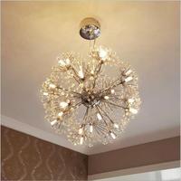 Square crystal ring Modern LED Crystal Chandelier Lights Lamp Cristal Lustre Chandeliers Lighting living room Pendant Hanging