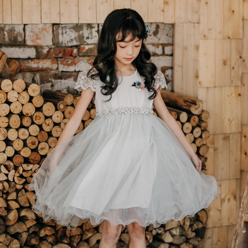 DFXD Children Clothing Big Girl Dresses Fashion Cotton Summer Sleeveless Lace Mesh Party Wear Princess Dress Kids Costume 3-12YDFXD Children Clothing Big Girl Dresses Fashion Cotton Summer Sleeveless Lace Mesh Party Wear Princess Dress Kids Costume 3-12Y