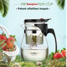 Freies verschiffen kamjove teetasse teekanne elegant tasse glas tee-set glas teekanne
