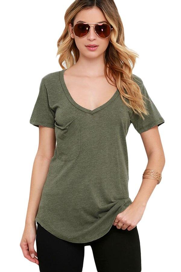 Adogirl Summer Plus Size XXL Short Sleeve T Shirt Women Casual V ...