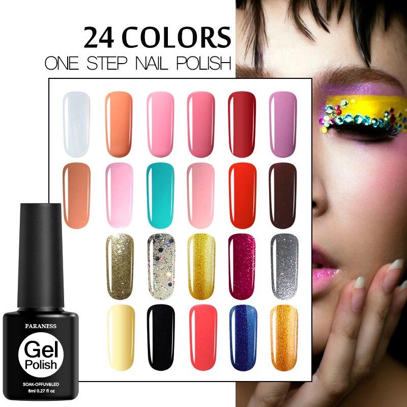 Paraness Semi permanente un paso acrílico Gel barniz remojo Gel colorido esmalte de uñas 3in1 UV laca Gel esmalte de manicura