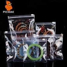 ПВХ замок-молния прозрачный ювелирный мешок анти-окисление обесцвечивание мягкое уплотнение кольцо браслет серьги брошь нефрит изумруд жемчуг