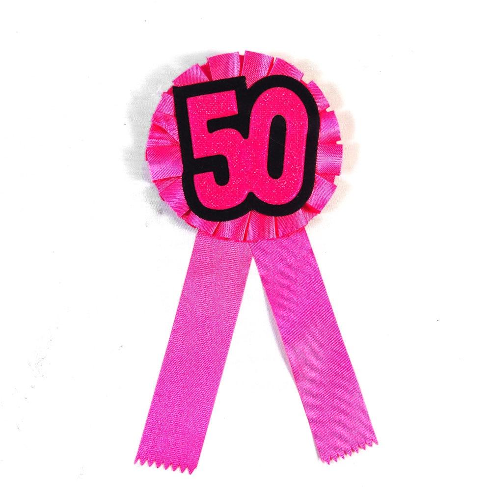 Afbeelding Verjaardag Vrouw 50 Jaar.Us 3 99 4 Stks Roze Vrouw 50 Jaar Verjaardag Broche 21 30 40 50 Souvenir Badge Gelukkige Verjaardag Lint Knop Event Feestartikelen Fun Gift In Feest