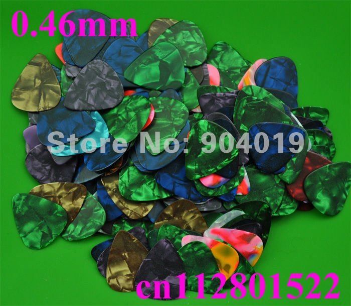 Lots of 1000 pcs new thin 0.46mm guitar picks No printing Assorted Colors Celluloid