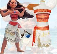 Adult Kids Movie Moana Princess Dress Cosplay Costume Women Princess Vaiana Costume Halloween Costume For Party