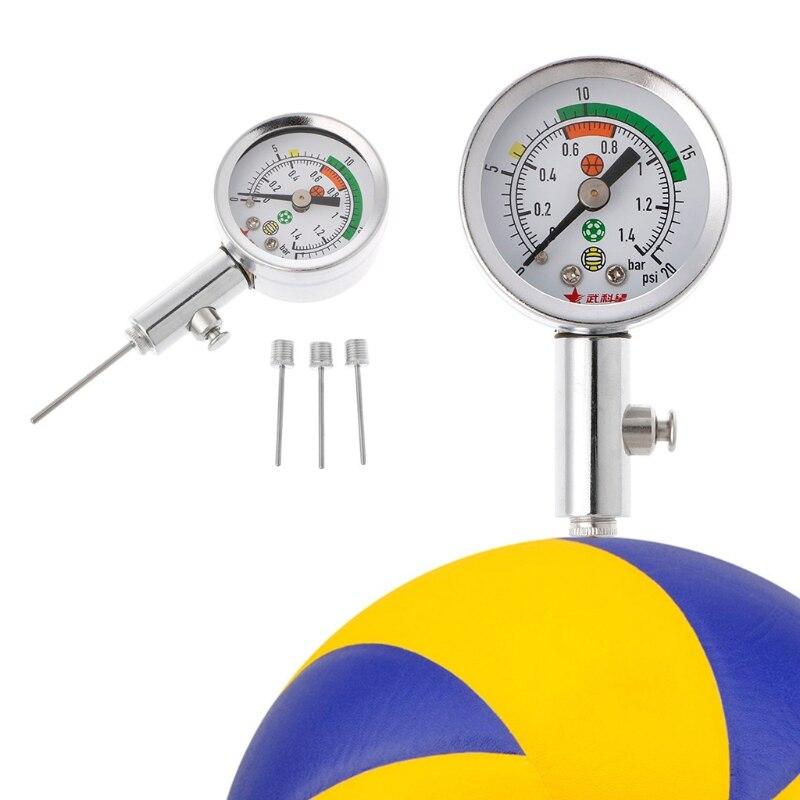 Ballon de soccer Pression Gauge Air Montre Football Volley-Ball Basket-Ball Baromètres