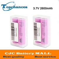 2X 2pcs Lot High Quality 3 7V 2600mAh 18650 Rechargeable Li Ion Battery ICR18650 26F ICR18650
