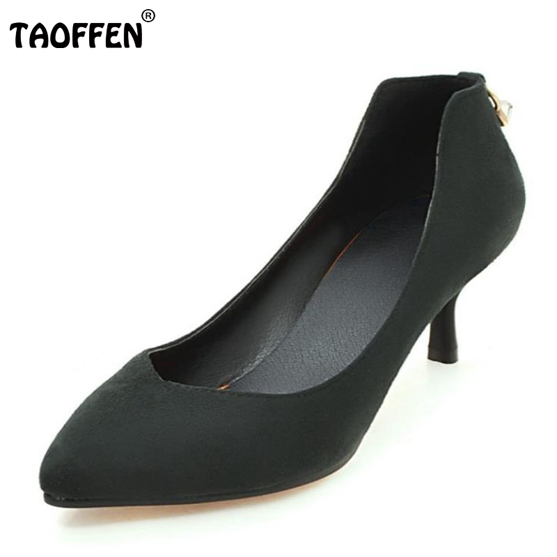 Women Pumps Women High Heeled Shoes Thin Heels Pointed Toe Flock Elegant Women Shoes Casual Party Office Footwear Size 34-43 2017 new summer women flock party pumps high heeled shoes thin heel fashion pointed toe high quality mature low uppers yc268