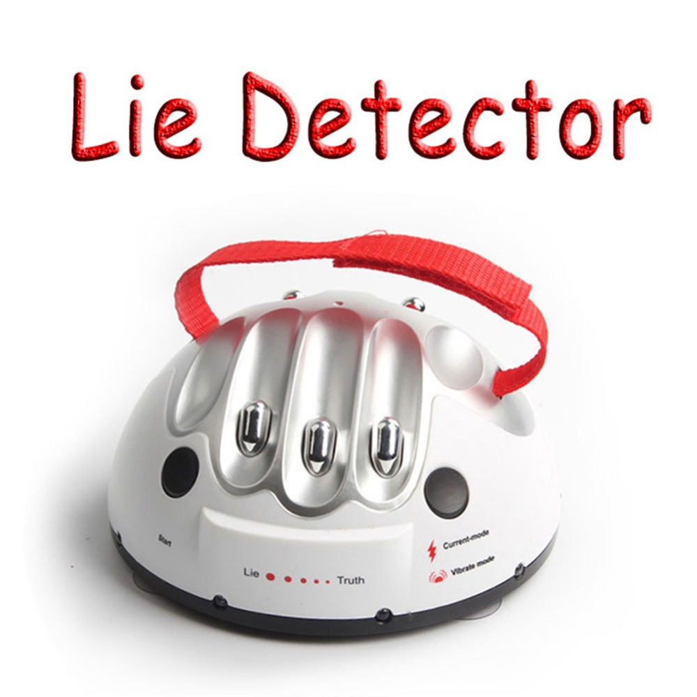 Polygraph Test Tricky Lie Detector Shocking Liar Funny Adjustable Adult Micro Electric Shock Truth Party Game Consoles Gifts Toy