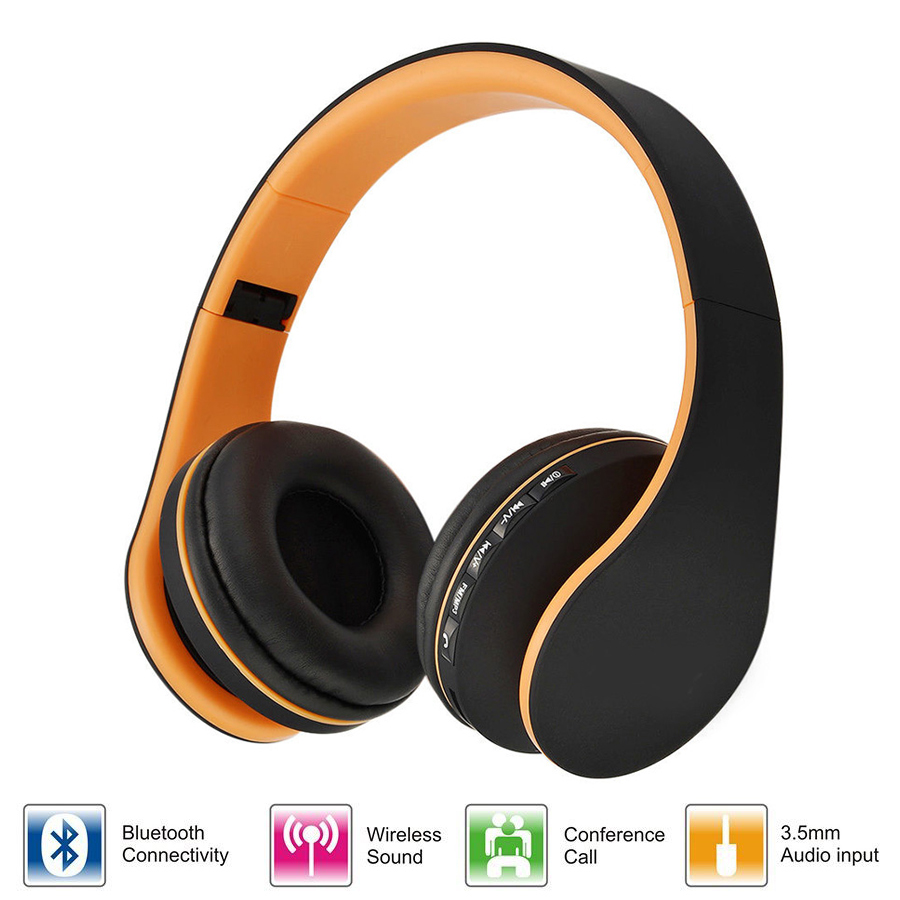 Multifunction Stereo Bluetooth Headphone Wireless Earphones Mucic Headset Wired MP3 Player TF Card FM Radio Hands free Mic smilyou multifunction wireless bluetooth 4 1 stereo headphone sd card