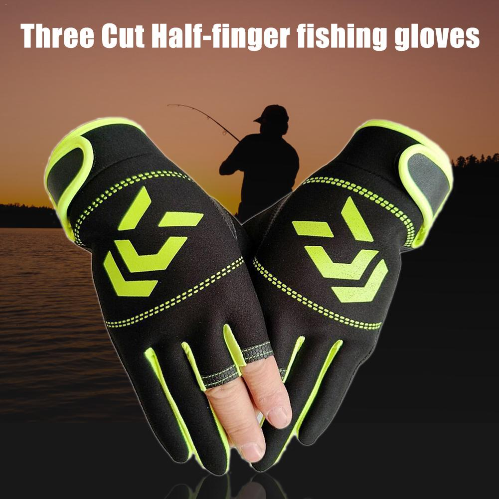 Non Slip Fishing Protection Against Stab Wounds Fishing Gloves Breathable Fishing Gloves 3 Fingers Cut Water Proof Sports Gloves