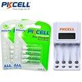 PKCELL 1 PCS Carregador de Bateria 8152 EU/EUA Plug + 2 Pack/8 Pcs aaa Bateria 1.2 V 850 mAh Baterias 3A Ni-MH AAA Bateria Recarregável