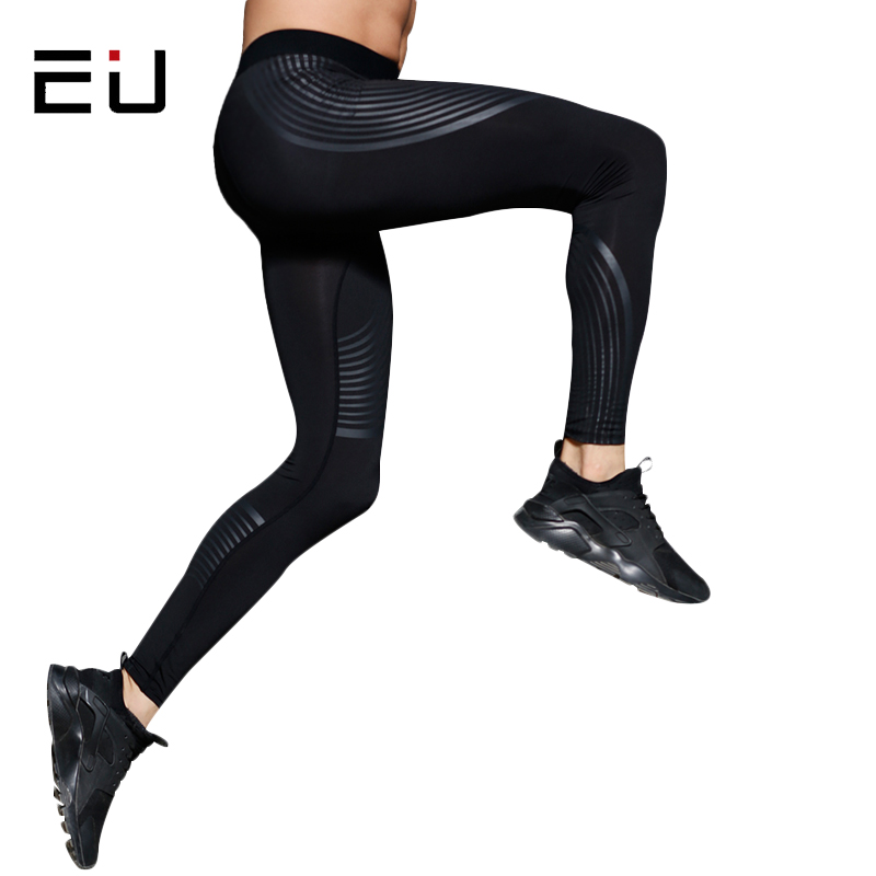 EU Sport Running Pants Men Dry Fit Fitness Compression Pants Men Gym Sports Running Tights Men Breathable Fitness Sport Leggings