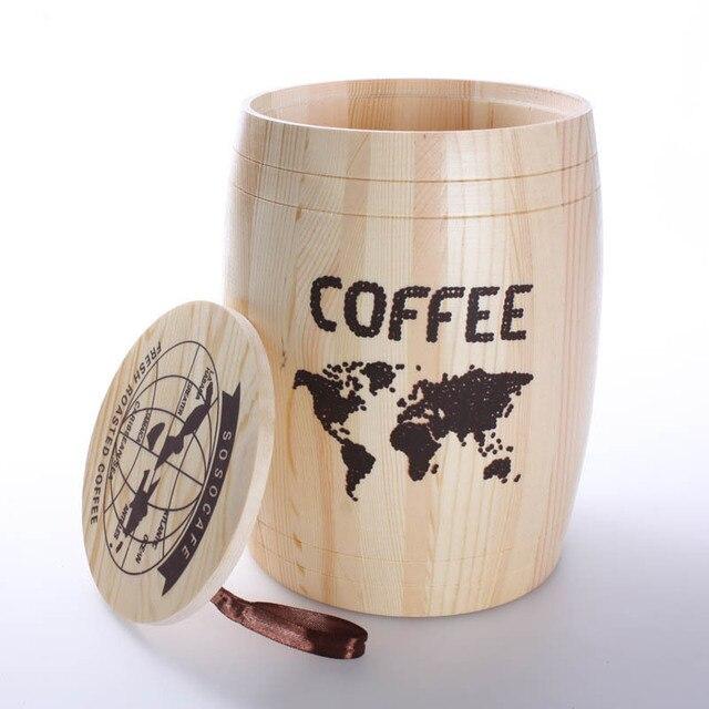 Wooden Barrels Coffee Beans Tea Oak Barrels Decorative