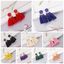 Guvivi New Design Long Tassel Earrings Round Drop Earrings For Women Girl 2019 Bohemian Female Fashion Jewelry Gifts Wholesale