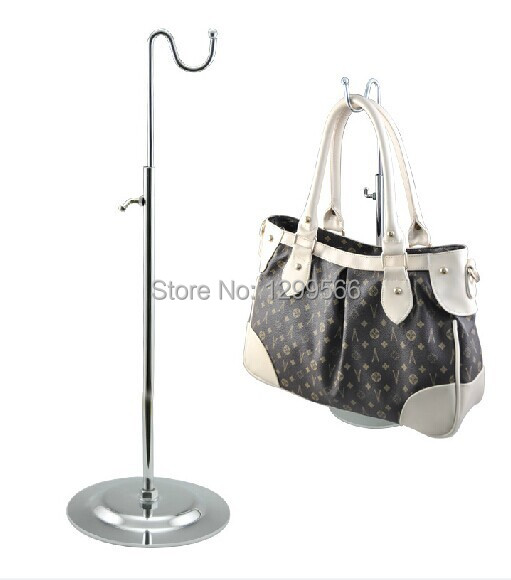 Industrious 10pcs Wholesale Hot Sale Single Curved Hook Light Hanging Bags Adjustable Handbag Display Rack Silk Scarves/wig Display Stand Living Room Furniture