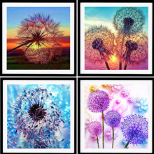 Diamond Embroidery Dandelion 5D Diy Full Diamond Painting Cross Stitch Landscape Rhinestone Mosaic Painting Home Decor diy diamond embroidery dusk natural landscape painting cross stitch 5d full rhinestone mosaic home decoration