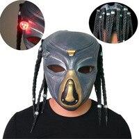 Wolf Predator Masque Masks The Predator Latex mask Led Flash Light Colorful Masks Cosplay Costume Prop Mask