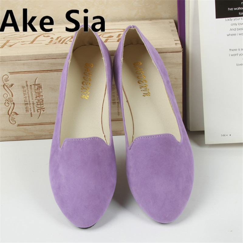 Ake Sia 2017 new ladies summer flat shoes women casual fashion shallow pointed Toe women shoes 27 color 2017 summer new fashion sexy lace ladies flats shoes womens pointed toe shallow flats shoes black slip on casual loafers t033109