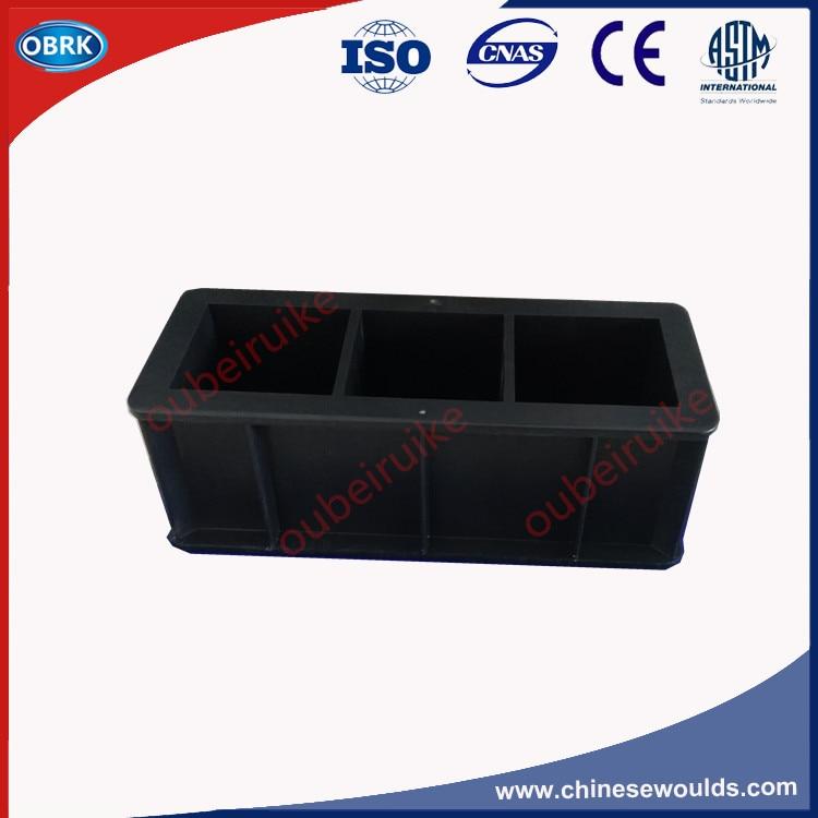 70.7mm Mortar Box Plastic  Mortar Molds 70.7mm Three Gang Mortar Cube Test Mould
