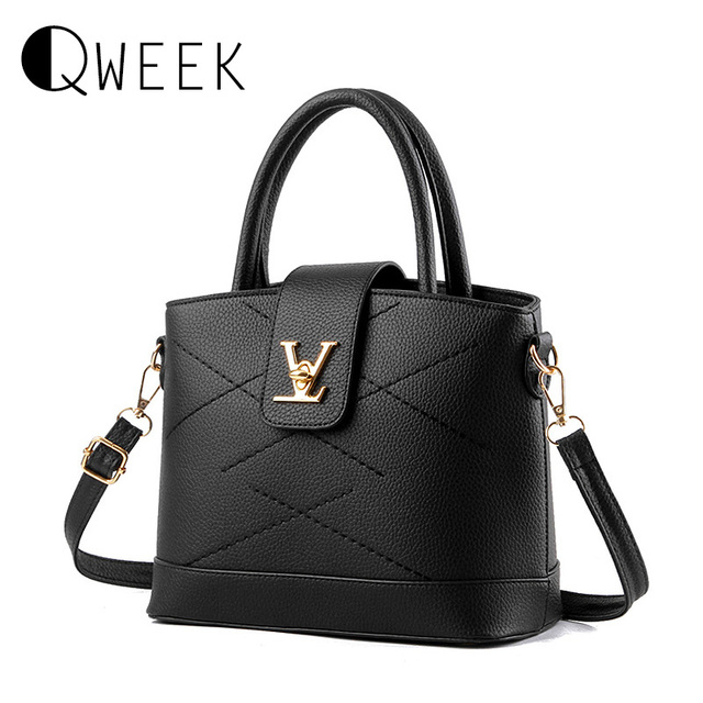 V Handbag Designers High Quality Womens Pu Leather Bag Sequined Lock Thread Hasp Tote Shoulder Bags Woman Brand Famous Bolsos