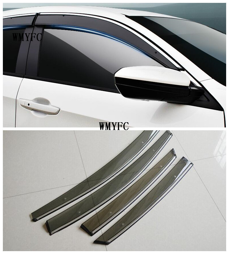 high quality 4Pcs Window Visor Shade Vent Rain Deflector Cover For Mazda CX 5 CX5 2013