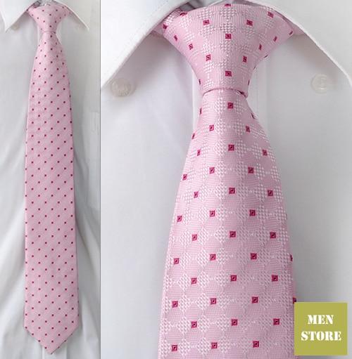 """Розовый и красный шашки мужские жаккардовый тканый шелк ручной работы """" галстук 8 см Галстук Свадебная вечеринка галстук для жениха AT256"""