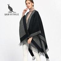 SAN VITALE Scarf Women Scarves for Women Top Quality Winter Neck Stoles Warm Designer Basic Fashion Plaid Shawls Echarpe Capes