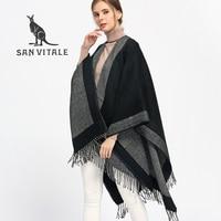 SAN VITALE Scarf Women Scarves For Women Top Quality Winter Neck Stoles Warm Designer Basic Fashion