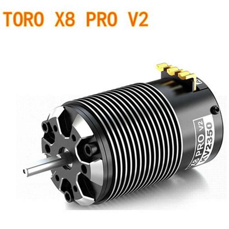 Livraison gratuite SKYRC TORO X8 PRO V2 2150KV 2350KV 1/8 moteur Brushless pour voiture RC