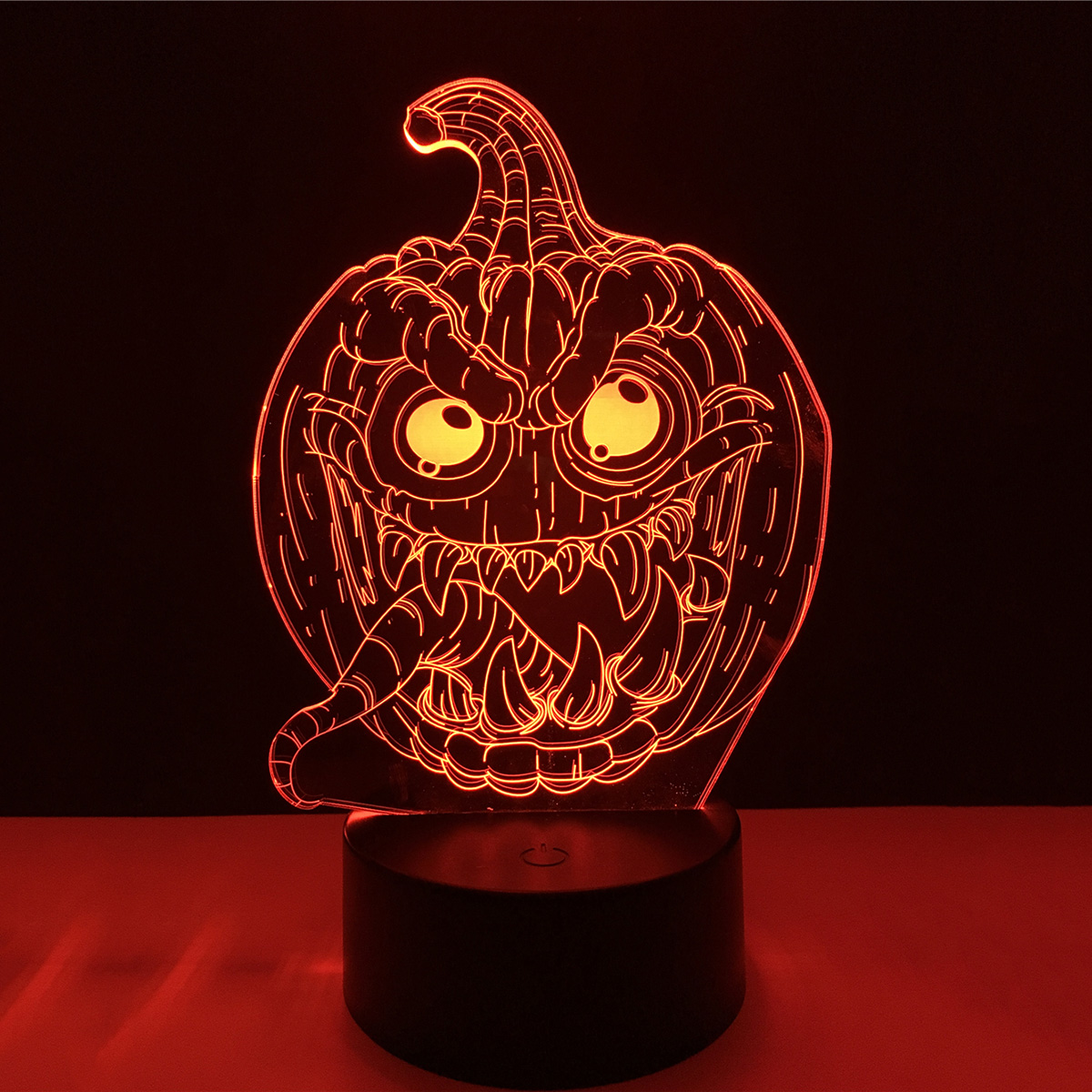 Halloween 3D Pumpkin Horror Face Acrylic LED Lamp 3D Baby Night Light Sleeping Lighting Holiday Night Light Xmas New Years P25