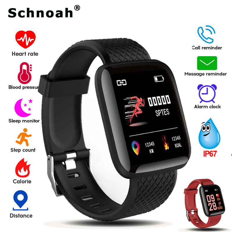 Watches Liberal Schnoah 2019 New Men Women Smart Sport Watch Fitness Tracker Pedometer Blood Pressure Heart Rate Monitor Smart Band+box