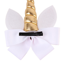 Girls' Unicorn Horn Shaped Hair Bow