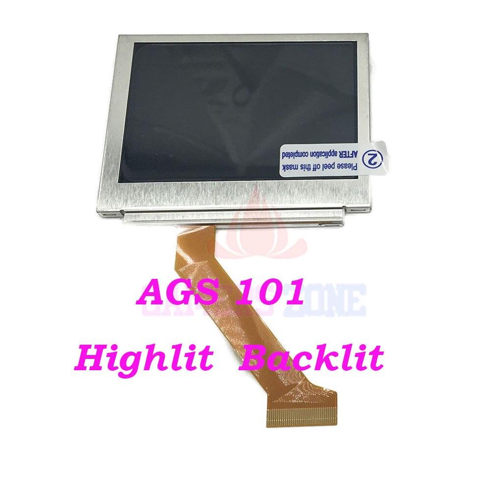 10 pcs Pour Nintendo GameBoy Advance SP GBA SP AGS 101 Highlit Écran LCD OEM Rétro-Éclairé Plus Lumineux