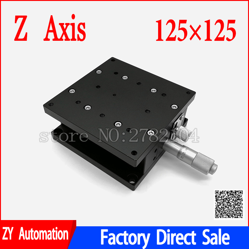 Z Axis 125*125mm 5 Trimming Station Manual Lift Displacement Platform Heavy Load Double Guide Way Linear Stage Sliding TableZ Axis 125*125mm 5 Trimming Station Manual Lift Displacement Platform Heavy Load Double Guide Way Linear Stage Sliding Table