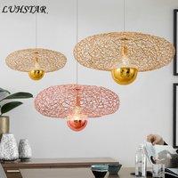 Modern Minimalist Iron Art Pendant Lights Dining Room Restaurant Kitchen Cafe Hanging Lamp Home Decor Loft Designer Led Hanglamp