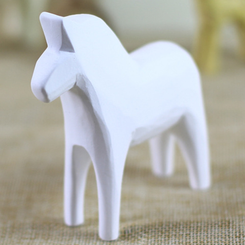 MR ZOOT Modern Black and White Pony White Horse Statue Resin Decoration Home Decoration Accessories Gift Geometric Resin Sculptu in Statues Sculptures from Home Garden