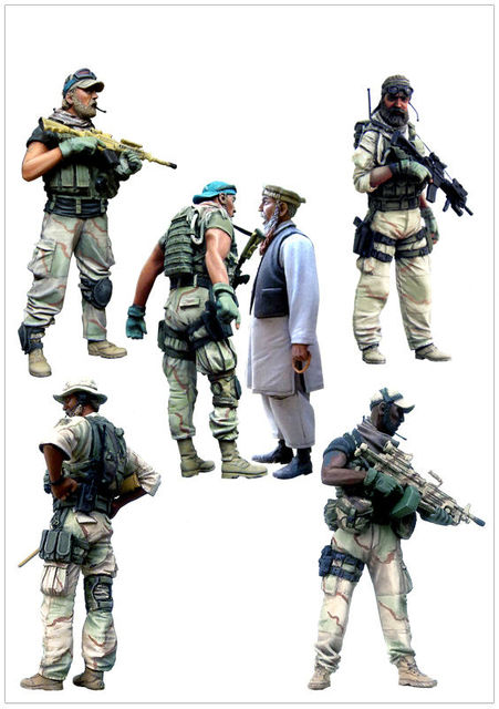 tuskmodel 1 35 scale resin model figures kit us special forces