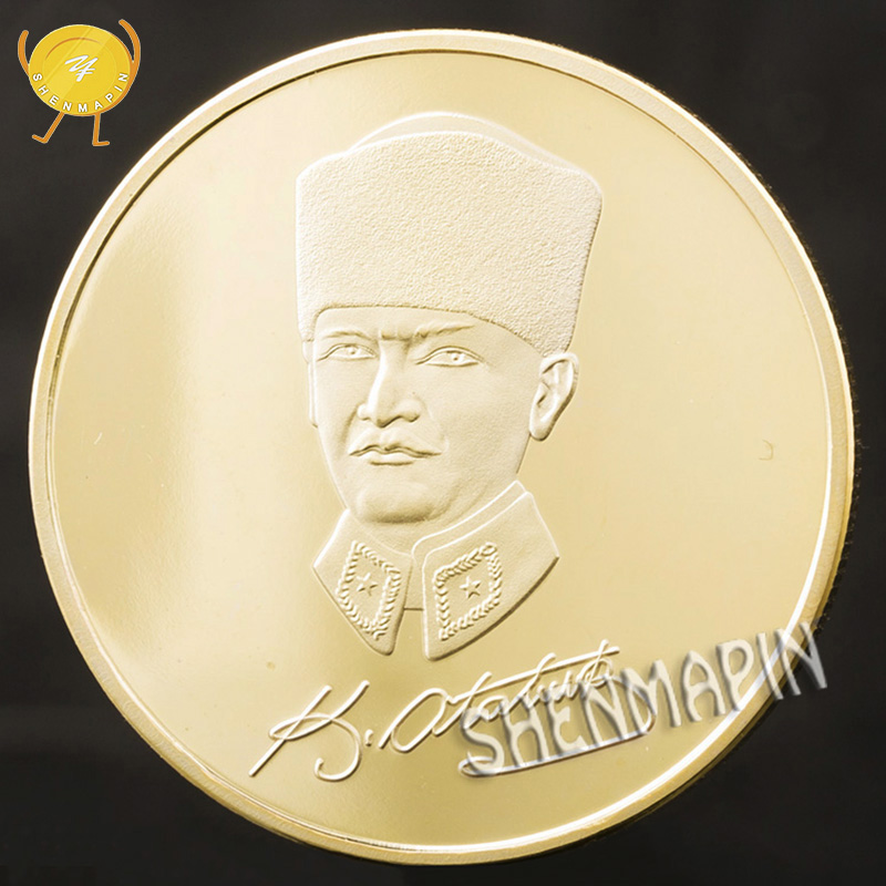 Turkish President Mustafa Kemal Ataturk Commemorative Coin