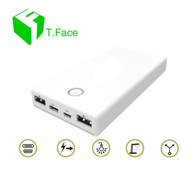 Carga rápida 3.0 Banco Do Poder 12000 mAh Carregador Portátil de Bateria Externa Pack com Dupla Porta de Entrada e Saída com o tipo C cabo