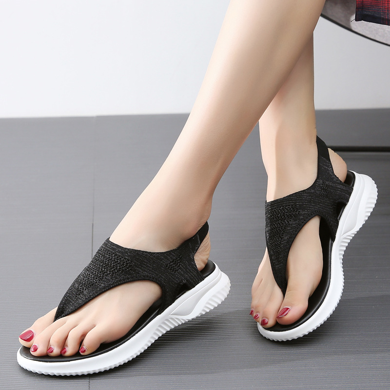 NEW Women Sandals 2019 New Female Shoes Woman Summer Wedge Comfortable Sandals Ladies Slip-on Flat Sandals Women Sandalias
