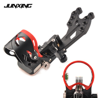 High Quality 5 Pin Bow Sight with Sight Light Adjustable Sight Bubble Level for Compound Bow Archery Hunting Shooting