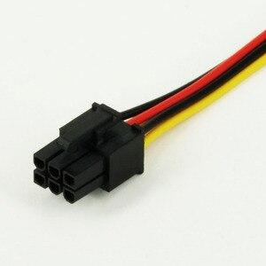 Image 3 - JONSNOW 6 פין זכר 4 פינים Molex נקבה PCI Express גרפיקה כרטיס כוח מתאם כבל הארכת כבל מחבר כוח