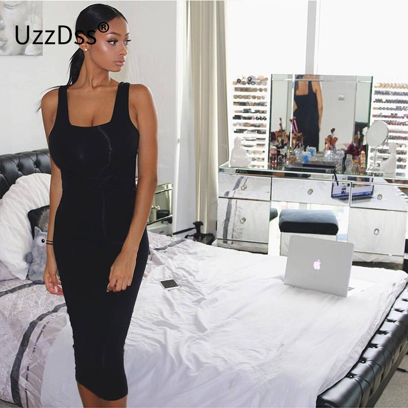 2017 Summer Women Sexy Sleeveless White Tank Bodycon Dress Cross Criss Cotton Blend Club Party Slim Dresses vestidos Black Dress 2