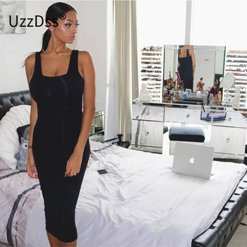 2017 Summer Women Sexy Sleeveless White Tank Bodycon Dress Cross Criss Cotton Blend Club Party Slim Dresses vestidos Black Dress 2