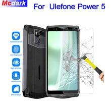 Mcdark 9H vidrio templado para Ulefone Power 5 película protectora de pantalla para Ulefone Power 5 película de vidrio de la cubierta del teléfono