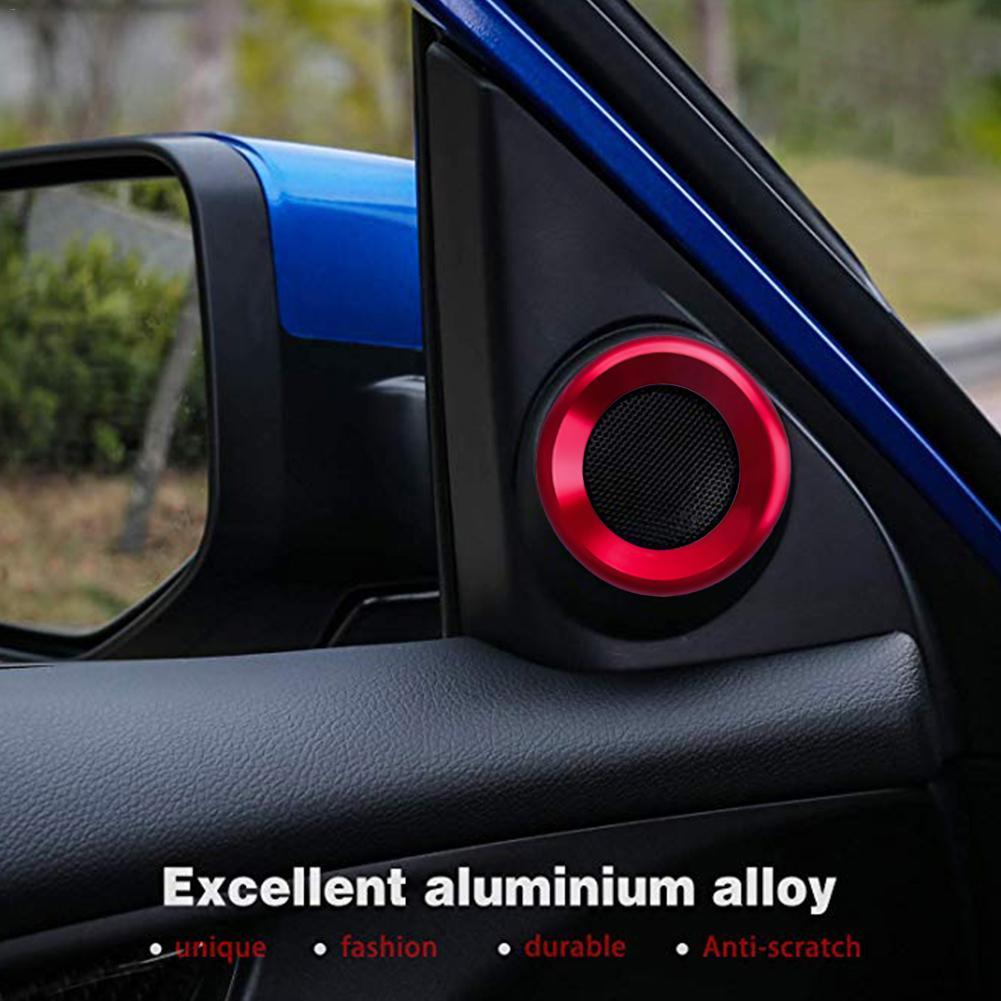 Украшения круг планки громкий динамик анодированный алюминиевый двери автомобиля аудио кольца динамиков планки для Honda Civic