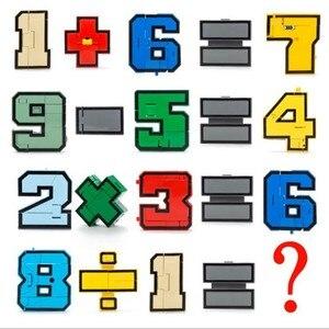 Image 4 - Gudi 15pcs Transform Number Robot Deformation Plane Car Kids Toys Finger cube Educational Action Figures Building Blocks Model