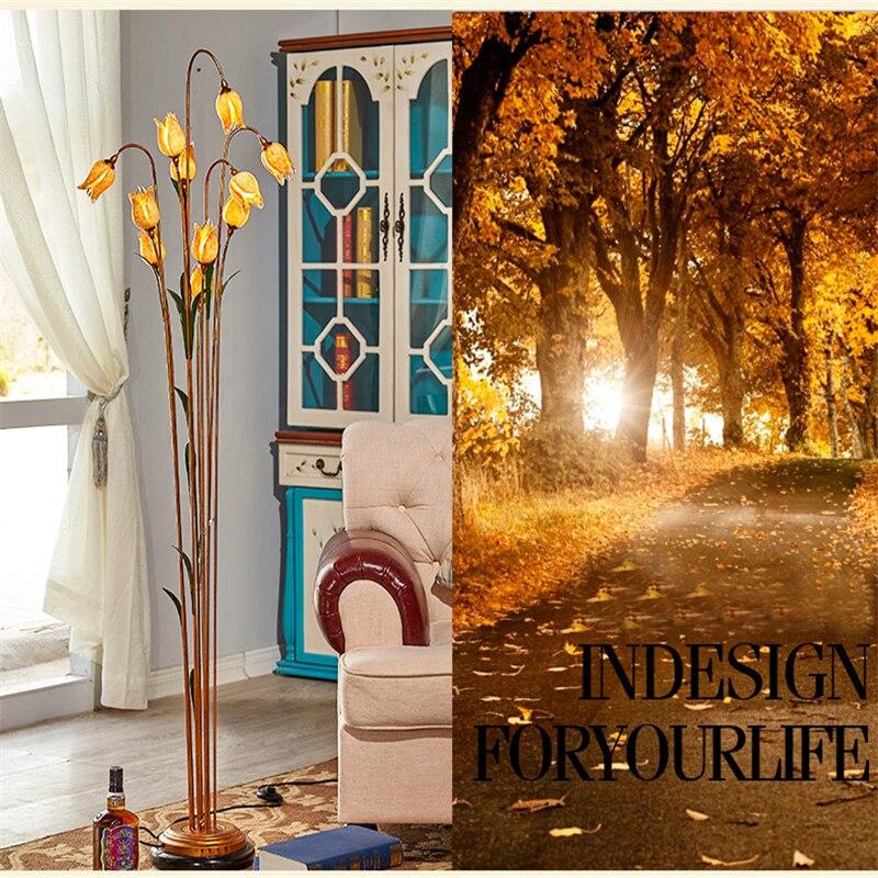 Virágos padlófényszórók Kovácsoltvas üveg Art Deco - Beltéri világítás