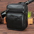 High Quality Genuine Leather Men Single Shoulder Bag Belt Hip Bum Travel Male Small Messenger Bags Cell Phone Fanny Waist Pack